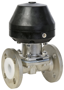 Diaphragm valve with actuator (PFA) by SAMSON SED