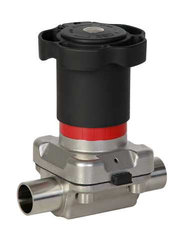 Hand-operated diaphragm valve by SAMSON SED
